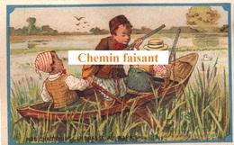 Chromo PETROLE HAHN - Nos Chasseurs :la Chasse Au Marais -  Scans Recto-verso - Chromos