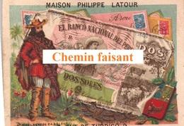 Chromo PHILIPPE LATOUR Chaussures à LIANCOURT 60 - Billet Du PEROU -  Scans Recto-verso - Tea & Coffee Manufacturers