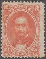 HAWAII 1883-86 2c Scott 31 - Very Fine Mint No Gum - Hawaii