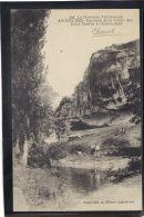 1652. ANGOULEME . ROCHERS DE LA VALLEE DES EAUX CLAIRES A CHAMOULARD. RECTO/VERSO.   ANIMEE - Angouleme