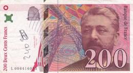 France - Billet De 200 Francs Type Eiffel - 1996 - 1992-2000 Ultima Gama