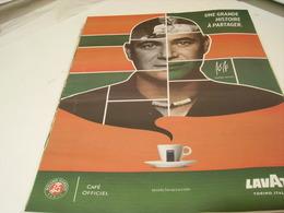 ANCIENNE PUBLICITE CAFE LAVAZZA AVEC R.GARROS ET A AGASSI 2018 - Posters