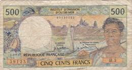 Institut D'Emission D'Outre-Mer - Papeete - Billet De 500 Francs - Non Daté - Tahiti - Polynésie Française - France