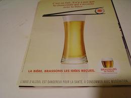ANCIENNE AFFICHE PUBLICITE BRASSEUR DE BIERE FRANCE - Alcools