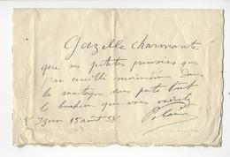 POLAIRE (1874 - 1939) ACTRICE AUTOGRAPHE AUTOGRAPH 1938 /FREE SHIPPING REGISTERED - Autographes
