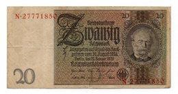 Repubblica Di Weimar - Germania - 1929 - Banconota Da 20 Marchi - Usata - (FDC12161) - [ 3] 1918-1933 : Repubblica  Di Weimar