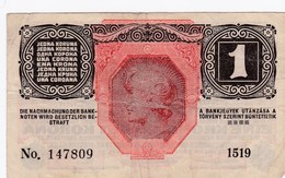 Autriche - Billet De 1 Krone - 1er Décembre 1916 - Autriche