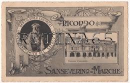 C749 !!! SANSEVERINO RICORDO CON VEDUTINA 1929 F.P. !!! - Italia