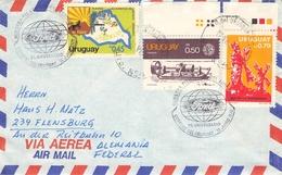 URUGUAY - AIR MAIL LETTER 1978 MUESTRA FILATELIA DE AUTOMOVIL - Uruguay