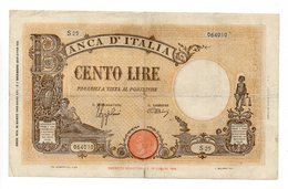 Italia - Regno - Banconota Da Lire 100 - BARBETTI - TESTINA - Fascio - Azzolini -Urbini - Decreto 15.3.1943 - (FDC12163) - [ 1] …-1946 : Kingdom