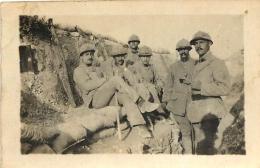 PHOTO ORIGINALE GUERRE 14/18 TRANCHEE FORMAT 7 X 4.50 CM - Guerre, Militaire