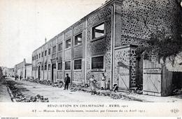 CHAMPAGNE - AY -Révolution Avril 1911 Maison Deutz & Gelderman - Wijnbouw