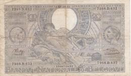 Belgique - Billet De 100 Francs - 20 Belgas - 18 Août 1941 - [ 2] 1831-... : Royaume De Belgique