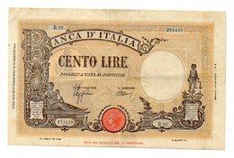Italia - Regno - Banconota Da Lire 100 - BARBETTI - TESTINA - B.I. - Azzolini - Urbini - Decreto 10.10.1944 - (FDC12165) - 100 Lire