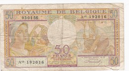 Belgique - Billet De 50 Francs - Agriculture - 3 Avril 1956 - [ 2] 1831-... : Belgian Kingdom