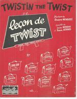 DALIDA  Partitions - LECON DE TWIST - Richard ANTHONY / CHAUSSETTES NOIRES - éditions MUSICALES CARAVELLE ( PARTITION ) - Non Classés