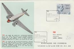 Lisboa TAP 1971 - 25 Anos Servicio Luanda Lourenço Marques - Angola Mozambique - Poste Aérienne