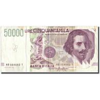 Billet, Italie, 50,000 Lire, 1992, 1992, KM:113b, TB+ - [ 2] 1946-… : Repubblica