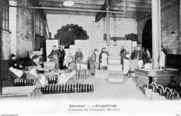 Champagne - Epernay -  Mercier L'étiquetage - Vines