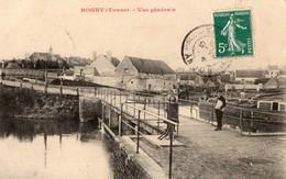 CPA Batellerie - 89 - ROGNY - Vue Générale - Le Canal, Péniche - Autres Communes