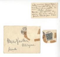 FRANCIS JAMMES (1868 - 1938) POETE CARTE DE VISITE AUTOGRAPHE AUTOGRAPH 1896 A GAILHAC /FREE SHIPPING R - Autographes