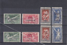 SYRIA - SYRIE - 1924 - O/FINE CANCELLED - OLYMPIC GAMES - JEUX OLYMPIQUES - Yv 122/5 , 149/52   Mi 227/30 , 254/7  - TOP - Syria