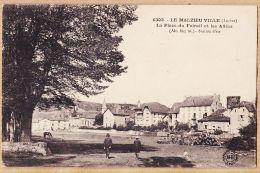Nw4393 Peu Commun MALZIEU-VILLE (48) Place Du FOIRAIL Et Les Allées 1910s MARGERIT BREMOND M.B 6303 - France
