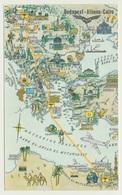 AK  Orientierungskarte Map Budapest Athen Cairo - Cartes Géographiques