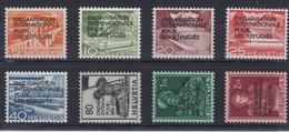 SUISSE  Organisation Mondiale Pour Les Réfugiés 1950:  La Série Complète (ZNr 1-8),  Neufs**,  Forte Cote,  TTB - Dienstpost