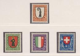 SUISSE  Pro Juventute 1923:  La Série Complète (ZNr J25-28),  Neufs**,   TTB - Pro Juventute