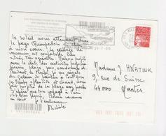 Cachet Et Flamme De Riec Sur Belon - 200  Au Dos D Une Cpm - Les Macareux Moines - Marcophilie (Lettres)