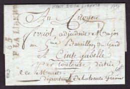 PYRENEES ORIENTALES : Pli Du MONT LIBRE De 1794 En Port Du Avec Marque 65 MONT DE LA LIBERTE Nom Révolutionnaire De MONT - Postmark Collection (Covers)