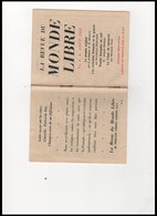 LA REVUE   DU MONDE   LIBRE - Oude Documenten