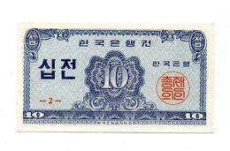 Corea Del Sud - 1962 - Banconota Da 10 Jeon - Nuova - (FDC12169) - Corea Del Sud