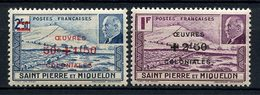 SPM MIQUELON 1944 N° 312/313 ** Neufs MNH Superbes C 3,84 € Falaise Phare Pétain Light House - St.Pierre Et Miquelon