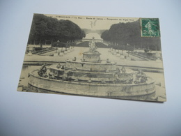 78 YVELINES CARTE ANCIENNE EN N/BL DE 1911  VERSAILLES CHATEAU LE PARC BASSIN DE LATONE PERSPECTIVE DU TAPIS VERT N°42 - Versailles (Château)