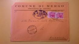 1959 BUSTA COMUNALE DESTINATA PROCURA REPUBBLICA BOLLO SIRACUSANA COMUNE MERGO TIMBRO UFFICIALE - 6. 1946-.. Repubblica