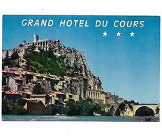 BASSES ALPES  SISTERON - Grand Hôtel Du Cours - Reclame