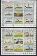 1984 S. TOME E PRINCIPE. N°          Nf**    MNH  . Bateaux à Vapeur Et à Roue. (2 Blocs-feuillets Dentelés) - Ships