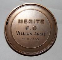 SUPERBE  MEDAILLE  BRONZE MERITE PG / ACPG SEINE 1965 - Non Classés