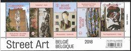 Belg. 2018 - COB N° 4770 à 4774 ** - Un Zoom Sur Le Street Art  (1/2 Feuille) - Belgien