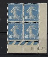"FR Coins Datés YT 237 "" Semeuse 40c. Gris-bleu "" Neuf** Du 19.4.30 - ....-1929"