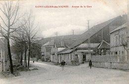 (74) CPA  Saint Leger Des Vignes  Avenue De La Gare   (Bon état) - France