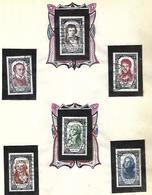 France Hommes Célèbres  1950 à 1959  Oblitérés  Séries Complètes  Cote 720 - Stamps