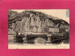 38 Isère, Grenoble, Pont De L'Esplanade Et Les Forts Rabot Et La Bastille, 1905, (Courtin) - Grenoble