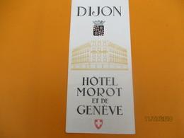 Dépliant Touristique à 3 Volets / Hôtel Morot Et De Genéve/ DIJON// Années 1950              DT19 - Tourism Brochures