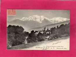 74 Hte Savoie, Château Du Domancy Et Le Mont-Blanc, 1905, (Pittier) - Ohne Zuordnung