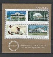 Tanzania - 2007 The 50th Anniversary Of The Coronation Of Aga Khan - M/s - Mnh - Tanzania (1964-...)