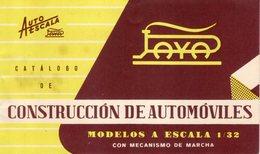 Catalogue PAYA 1960 Construcción De Automóviles - Escala 1:32 Autoescala - En Espagnol - Books And Magazines