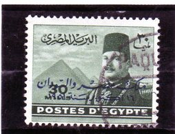 B - 1952 Egitto - Re Farouk E Piramidi Di Giza - Soprastampato - Egypt